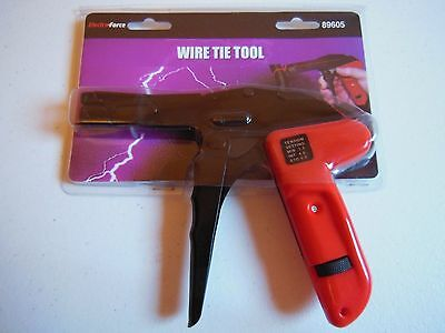 Cable Zip Wire Tie Tool GUN Adjustable tension Tighten and Cut in one operation