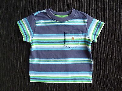 Baby clothes BOY 9-12m GAP blue/navy blue/green short sleeve t-shirt SEE SHOP!