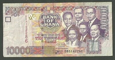 Bank Of Ghana 10,000 Ten Thousand Cedis 2002 Pick 35A Currency Paper Money Note