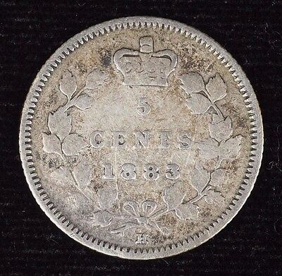 1883H Canada 5 Cent Canadian Silver Five Cent