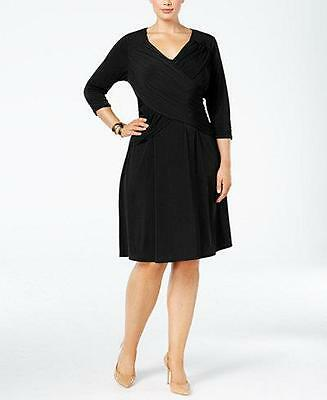 NY Collection Women's Plus 3/4 Sleeve Dress NWT Size 1X MSRP $70 WD191