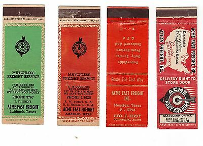 31 different ACME Fast Freight Transportation matchbook covers vintage NR
