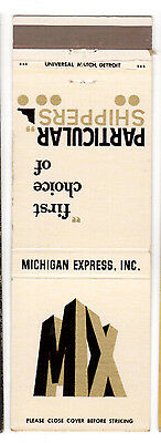 Michigan Express Inc Matchbook Cover First choice of Particular Shippers Another