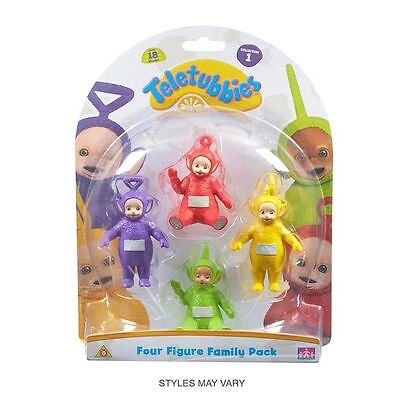 New Teletubbies 4 Figure Family Pack Set 1