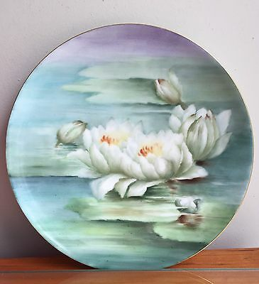 Antique Hand-painted Haviland France Decorative Plate~Water Lilies~Artist Signed