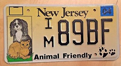 "New Jersey Dog And Cat License Plate  Im 89Bf "" Nj Dogs And Cats Animal Friendly"