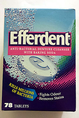 Efferdent  Anti-Bacterial Denture Cleanser 78 tablets