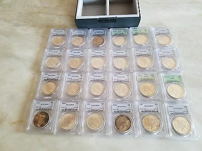 Peace Dollar Collection - 1921-1935 - 24 PCGS Graded Coins