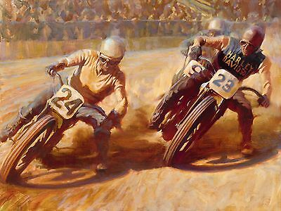 "Direct from the Artist - ""First Turn"" limited edition paper print by David Uhl"