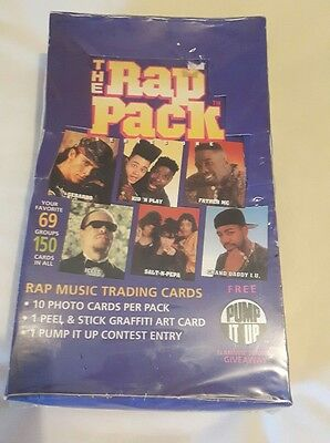 The Rap Pack 1991 Factory Sealed Unopened Trading Cards Kid 'n' Play Ice T Rap