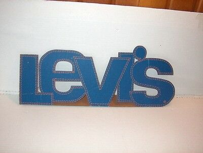 Antique Advertising cardboard Levi's sign. Old store Display. Rare
