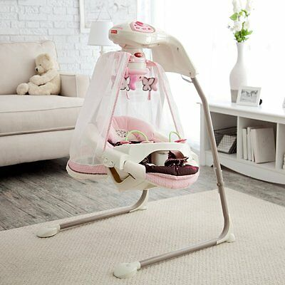 Fisher-Price Butterfly Cradle Baby Swing