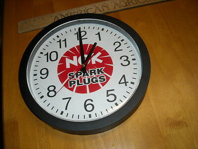"NGK Spark Plugs 12"" Advertising Wall Clock for Dealer Display"