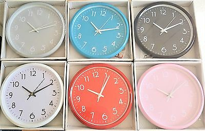 Hometime Kitchen Bedroom Home Office Wall Clock Modern Round Plastic