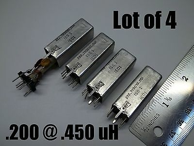 Variable inductor coil .250 @.450 uH, Q=180, shielded can ,Price for 4,  (030)