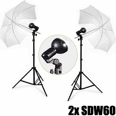 DynaSun 2X SDW60 Kit Illuminatore Flash Compatto da Studio Professionale