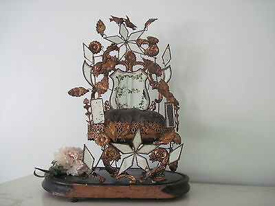 Antique French Ormolu Wedding Cushion Stand Globe de Mariee