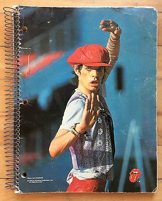 """ROLLING STONES 1978 Hilroy Spiral Notebook, Photo by Lynn Goldsmith, 8.5"""" x 11"""""""