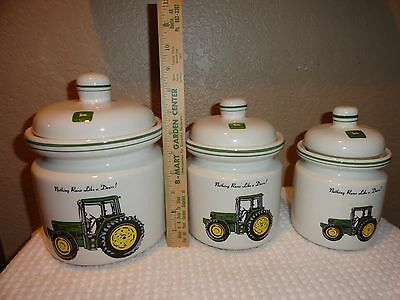 John Deere Canister Set of 3 Three Piece by Gibson
