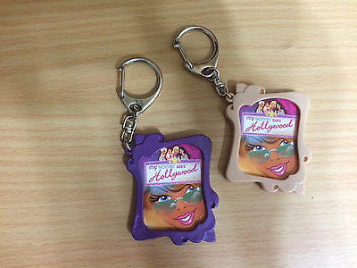 Set of 2 Barbie Doll My Scene Goes Hollywood Keychains