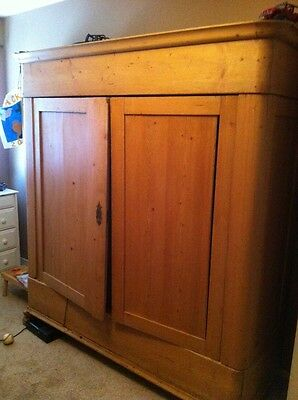 Antique 19th Century Dutch Pine armoire
