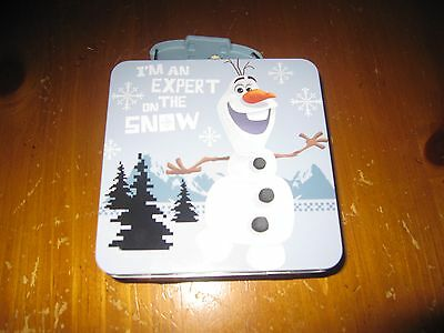 NWT Disney Frozen OLAF TIN CARRY ALL PURSE/ LUNCHBOX