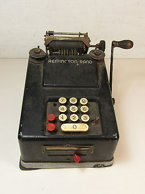 Remington Rand Adding Machine Vintage Hand Crank For Parts Or Repair