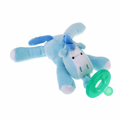 Newborn Baby Boy Girl Toy Dummy Nipple Soother Silicone Orthodontic Pacifier-Cow