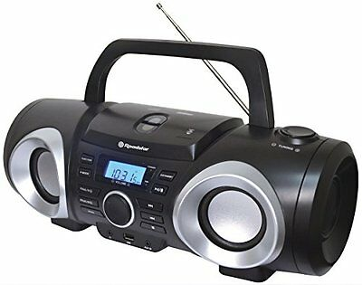 Radio portatile Roadstar con CD player USB MP3 Radio FM CDR-265U Nera