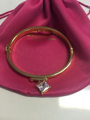 Authentic Juicy Couture Gold Bracelet With Crystal