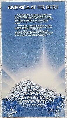 Very Rare 1982 Disney Epcot Center Grand Opening Annenberg Tv Guide Commentary
