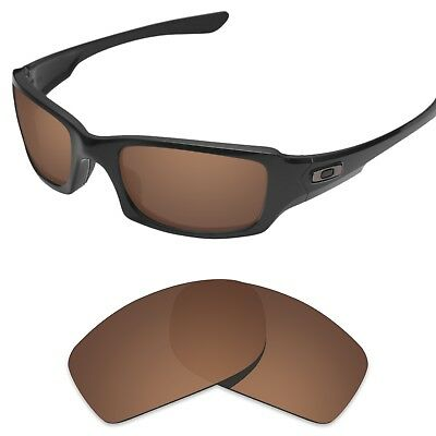 Tintart Replacement Lenses for-Oakley Fives Squared Sunglasses Nut Brown (STD)