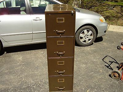 Vintage Watson ind.jamestown ny. 4 Drawer Metal Filing Cabinet