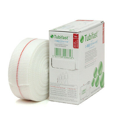 Tubifast RED/ GREEN / BLUE/ YELLOW Line Tubular Bandage 10M - Multiple Sizes