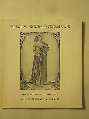 Sotheby 5/22/73 antique English, French & German SILVER