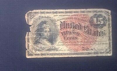 US Fifteen (15) Cent Fractional Note Currency, Fifth Issue