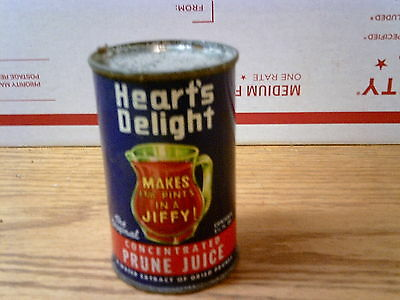 VINTAGE 6 oz TIN CAN HEARTS DELIGHT PRUNE JUICE......USA