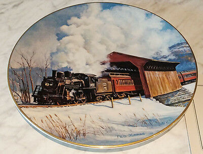 American Steam - Winter on the Boston & Maine Collector Plate - 309/15000