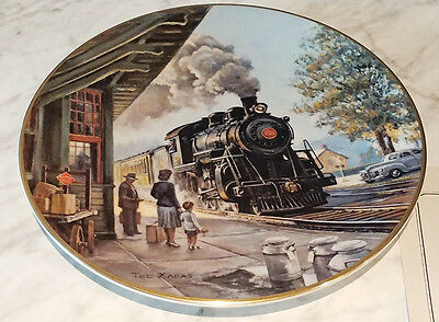 American Steam - Morning at the Depot Collector Plate - Ted Xaras - 2155/15000
