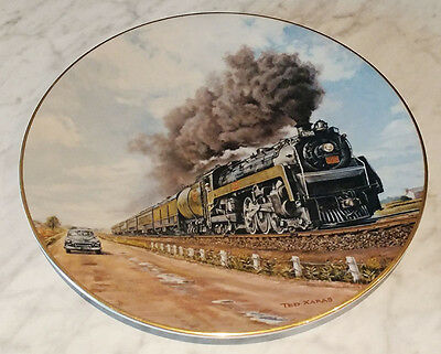 The Age of Steam - No Contest! Collector Plate by Ted Xaras - 4377/15000