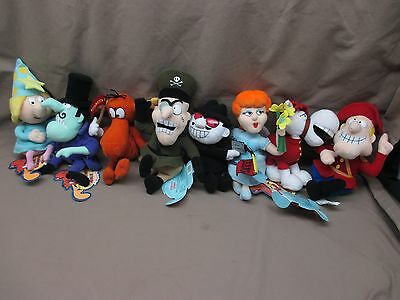 WITH TAGS Set of EIGHT Rocky & Bullwinkle Friends CVS Stuffins Beanbag Plush Lot