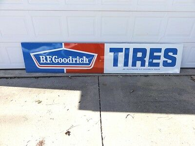 Vintage Advertising Sign B F Goodrich ~ One-Sided