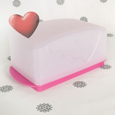NEW Tupperware Butter Dish Reversible Base for 250gr Cheese Pink