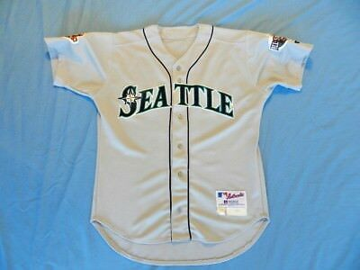 John Moses 2001 Seattle Mariners game used jersey size 46+1 sleeve length