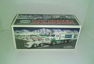 2008 Hess Toy Truck And Front Loader With Original Box. Please Read Description.