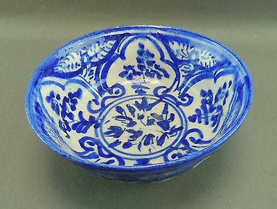 Old Blue & White Hand Painted Bowl