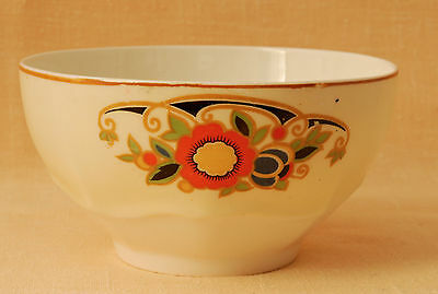 Crown Ducal, England 1920's Bowl (larger Open Sugar Bowl or 'Slop' Bowl