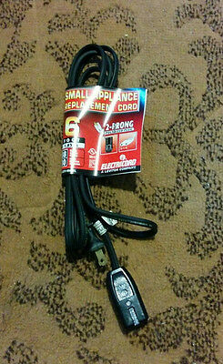 Small Appliance Replacement Cord, Coffee Pot, 6ft, 18 Gauge Calibre, 10 Amps
