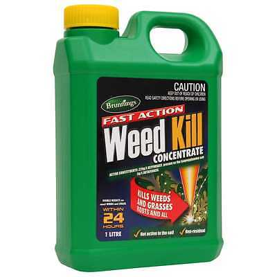 Fast Action Weed Kill 1L Concentrate Glyphosate Butafenacil Brunnings Herbicide