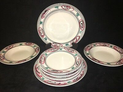 PIER 1 La Primula 8 Pc Dinnerware Set Made in Italy Dinner / Soup / Salad